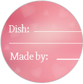 Valentine's Day Potluck Meal Cards & Dish Labels