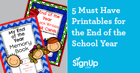 Must have printables for the end of the school year