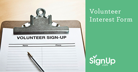 create a volunteer interest form with signup com signup com