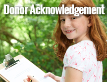 Donor Acknowledgement