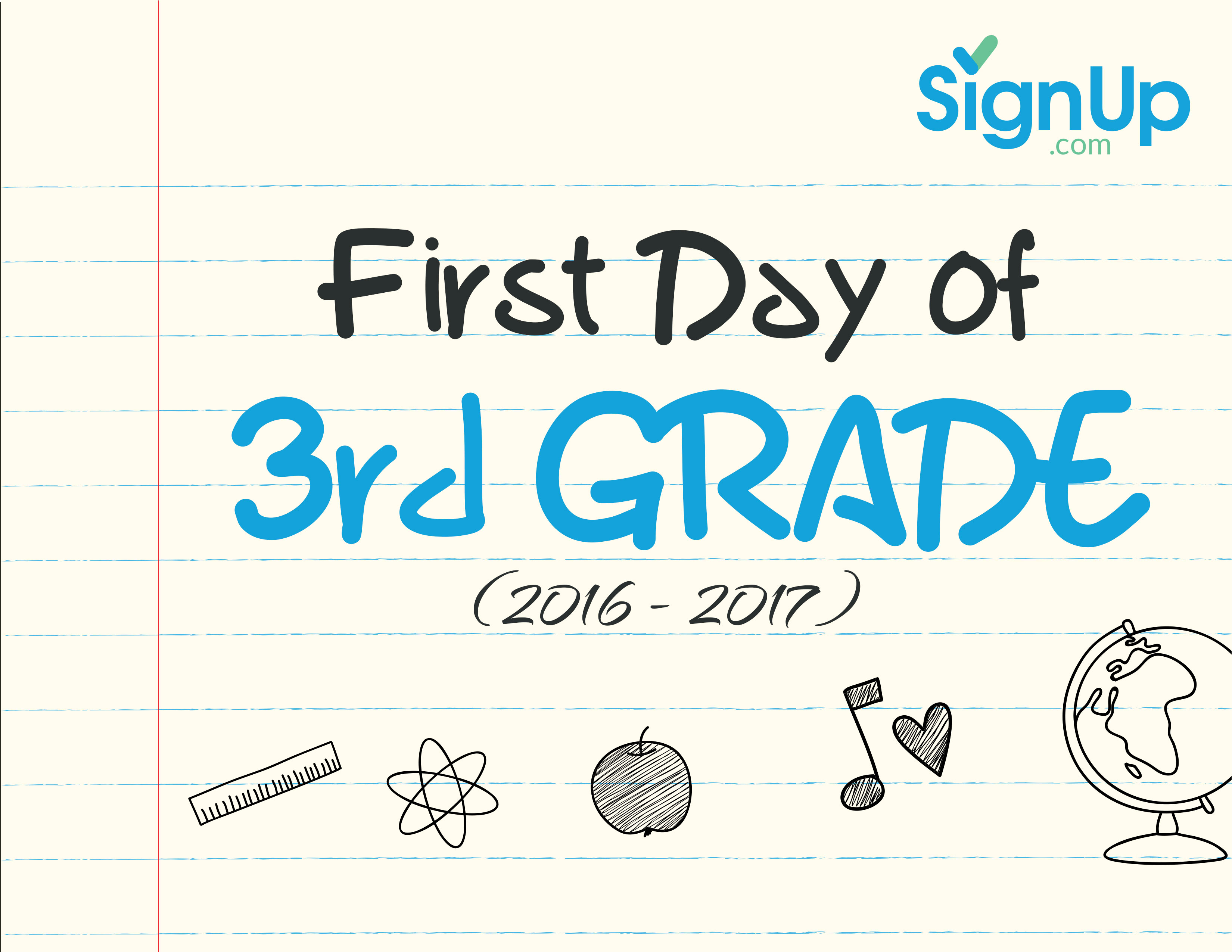 It is a photo of Nerdy First Day of 3rd Grade Printable