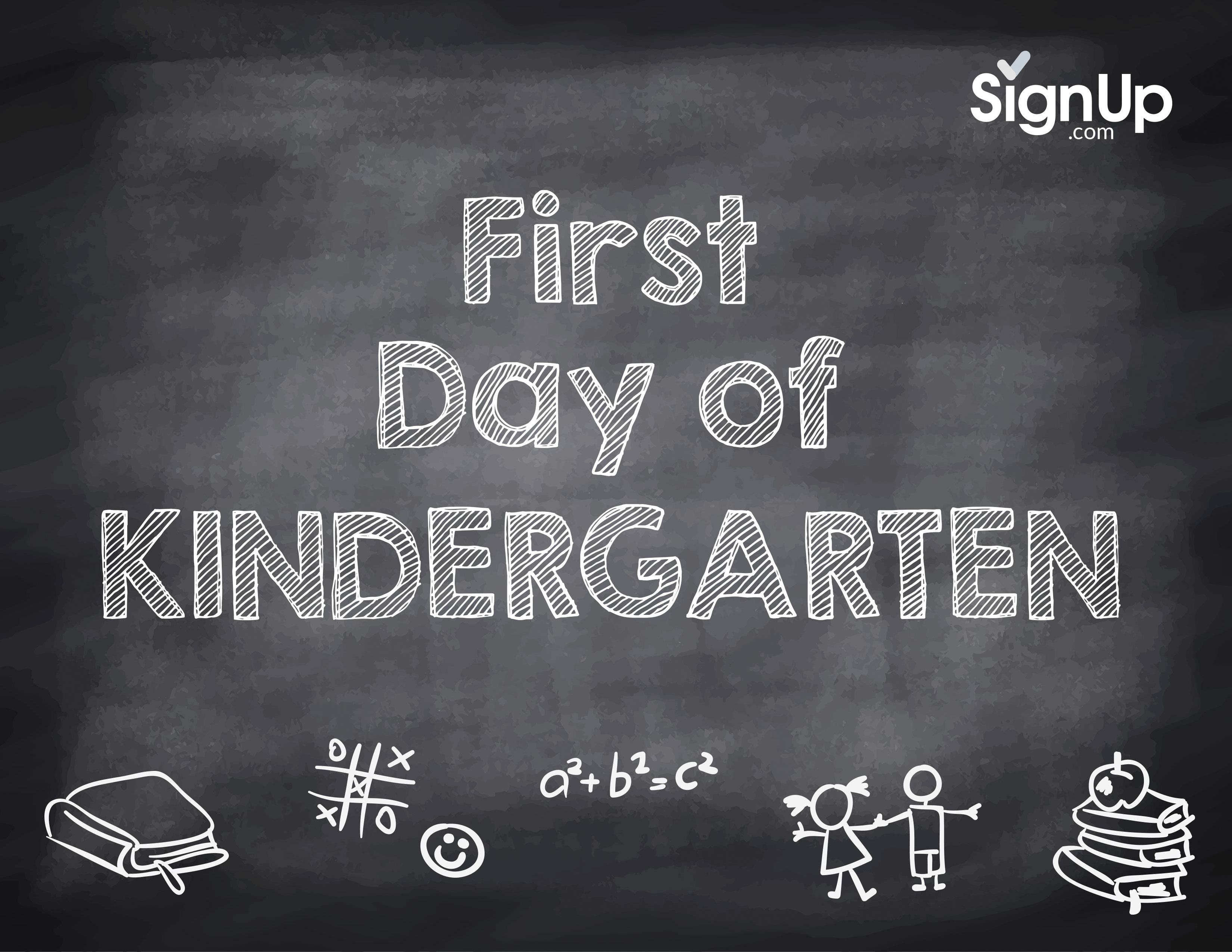This is a photo of Légend First Day of Kindergarten Sign Printable