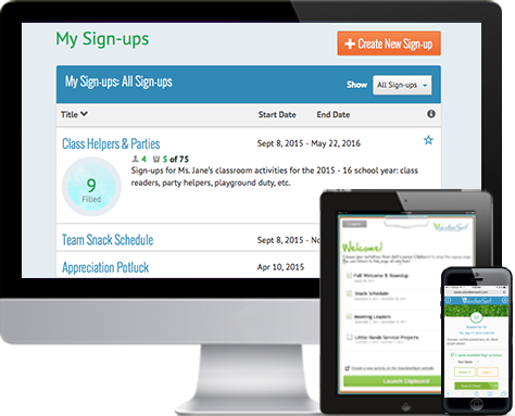 volunteer calendar scheduling signup com