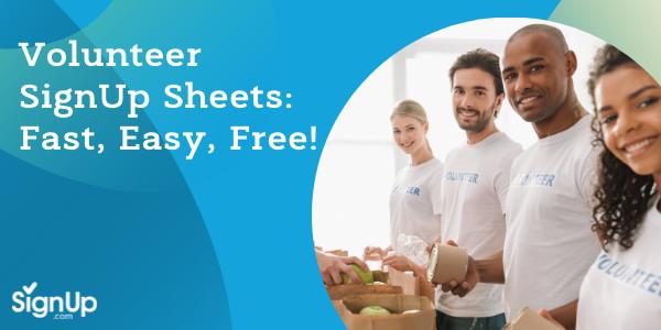 Free Volunteer SignUp Sheets