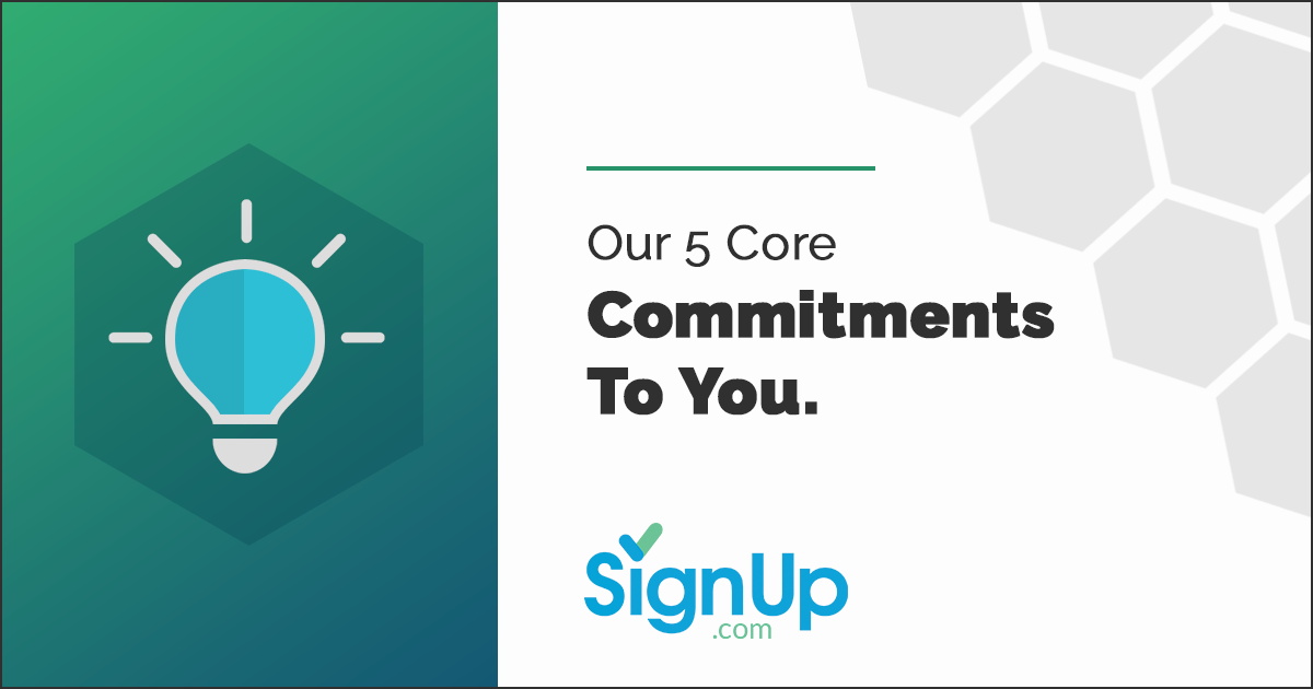 SignUp Core Commitments to Partners