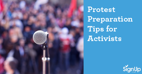 protest preparation tips for activists
