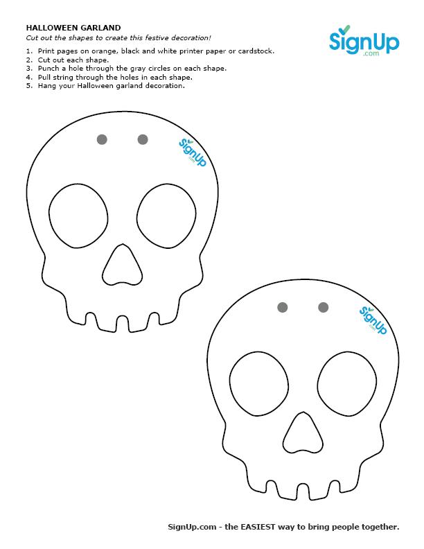 skull garland