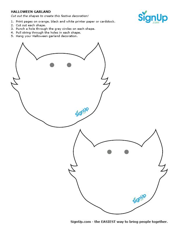 cat head garland