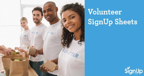Volunteer SignUp Sheets