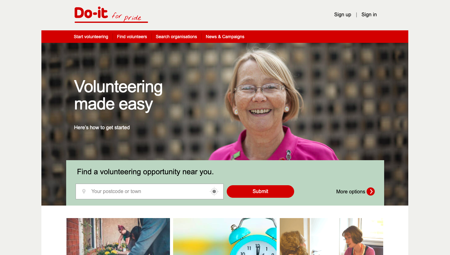 Do It volunteering website