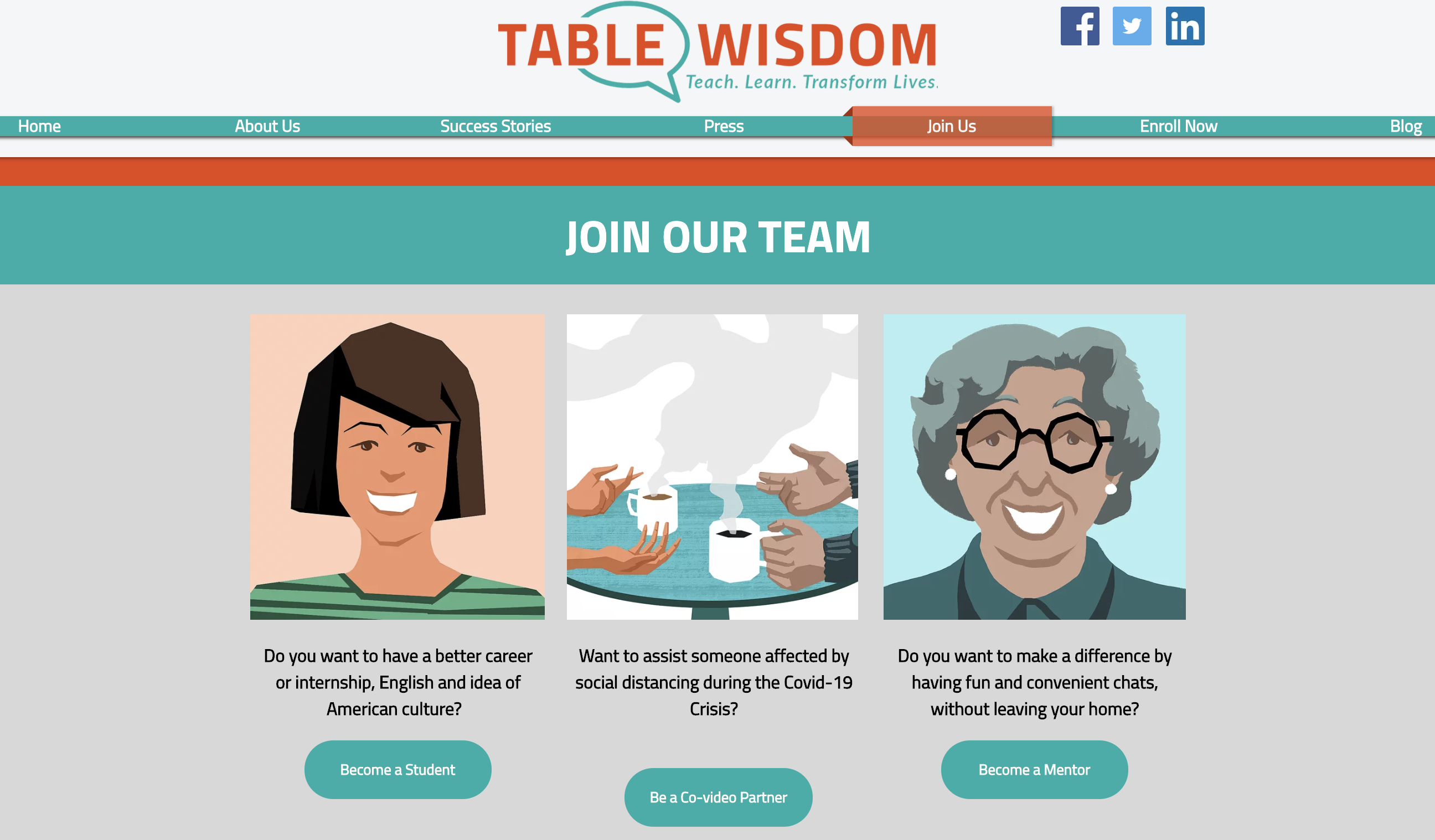 Table Wisdom website
