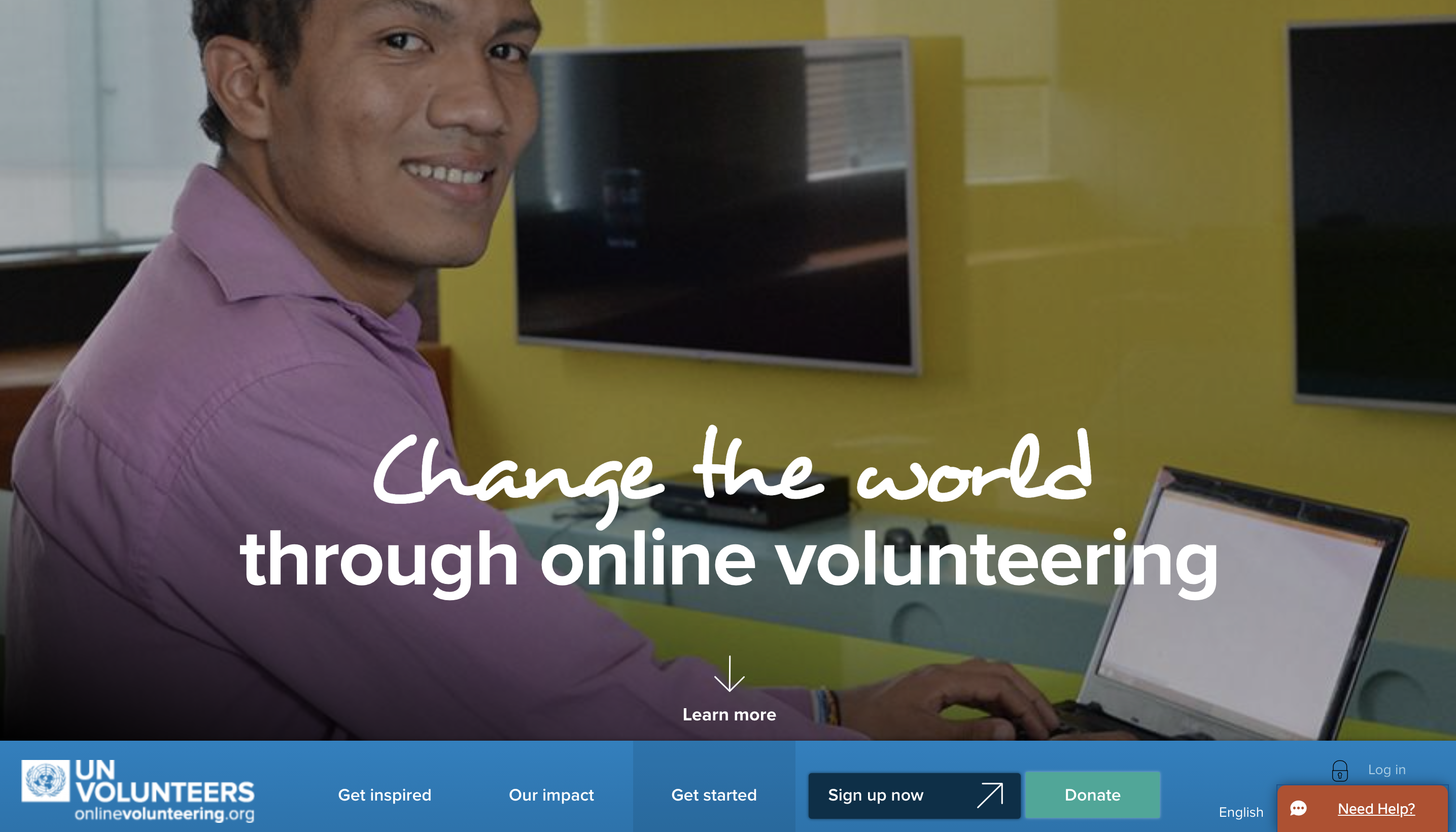 UN Volunteers website