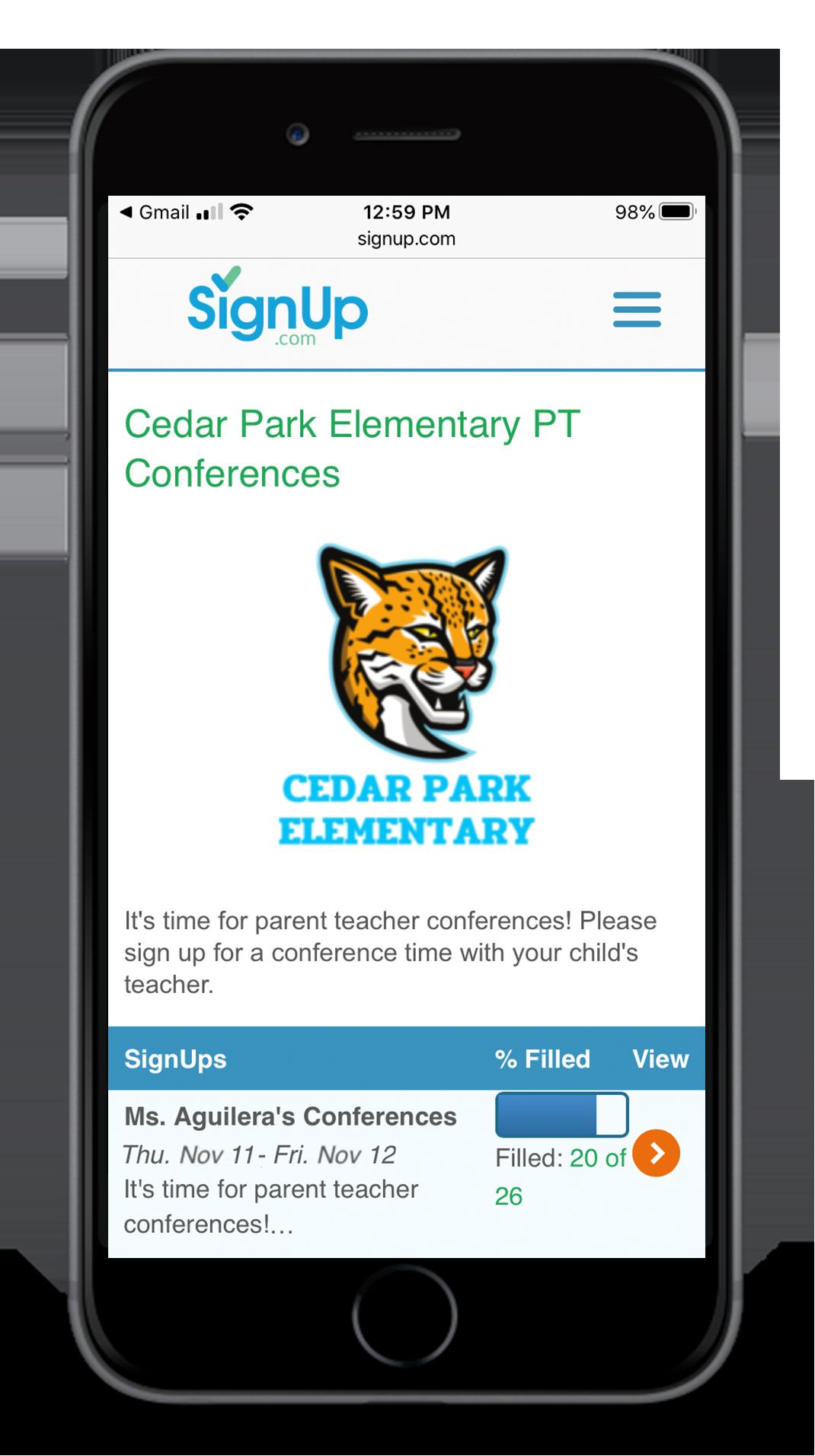 Cedar Park Elementary Parent Teacher Conferences SignUp