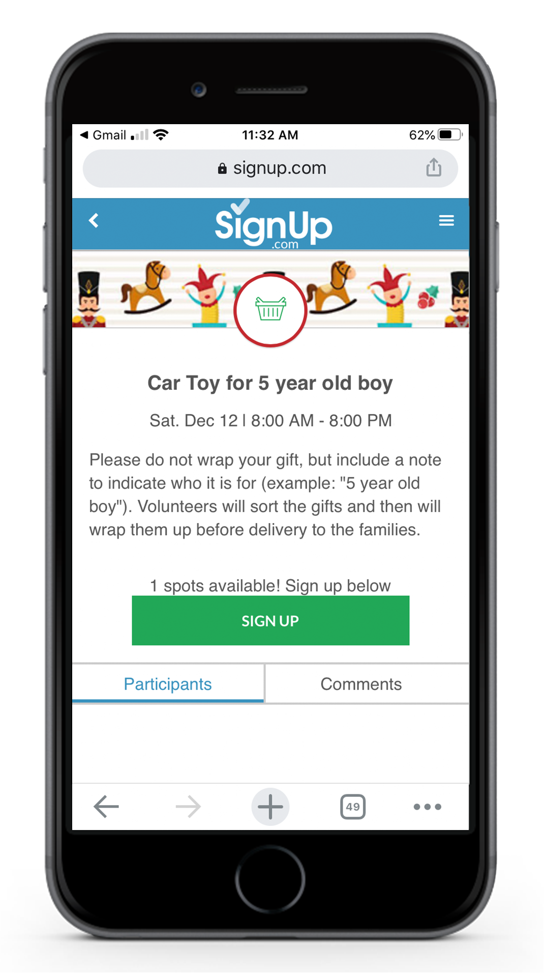 Giving Tree Sign Up