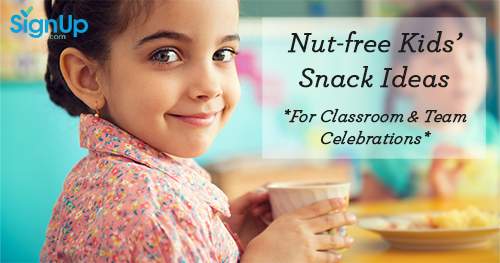 Nut-Free Kids' Snacks Ideas for classroom and team celebrations
