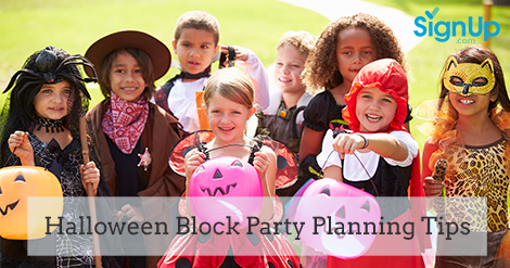 Halloween Block Party Planning Tips, How to use online SignUps to make your party planning easier