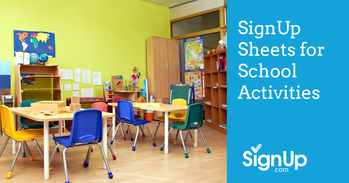 School Activities SignUp Sheets – Signup Sheets