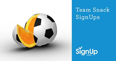 online snack sign up sheets for sports teams signup com