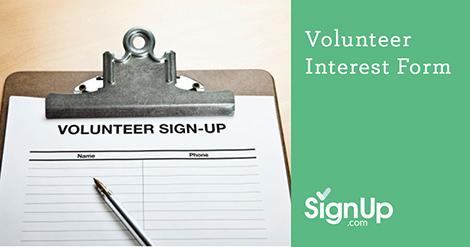 create a volunteer interest form with signup com signup com