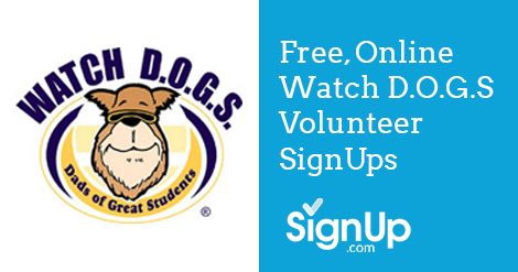 watch d o g s volunteer sign up sheets for school volunteers