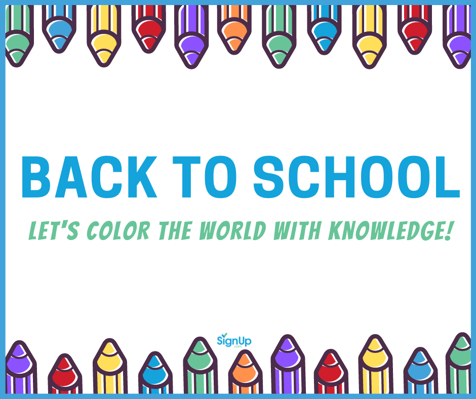 Back to School - color the world with knowledge