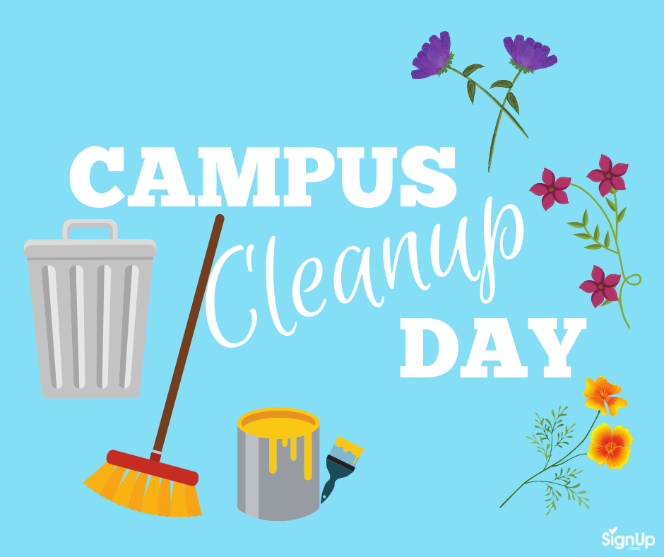 Campus Cleanup Day social graphic