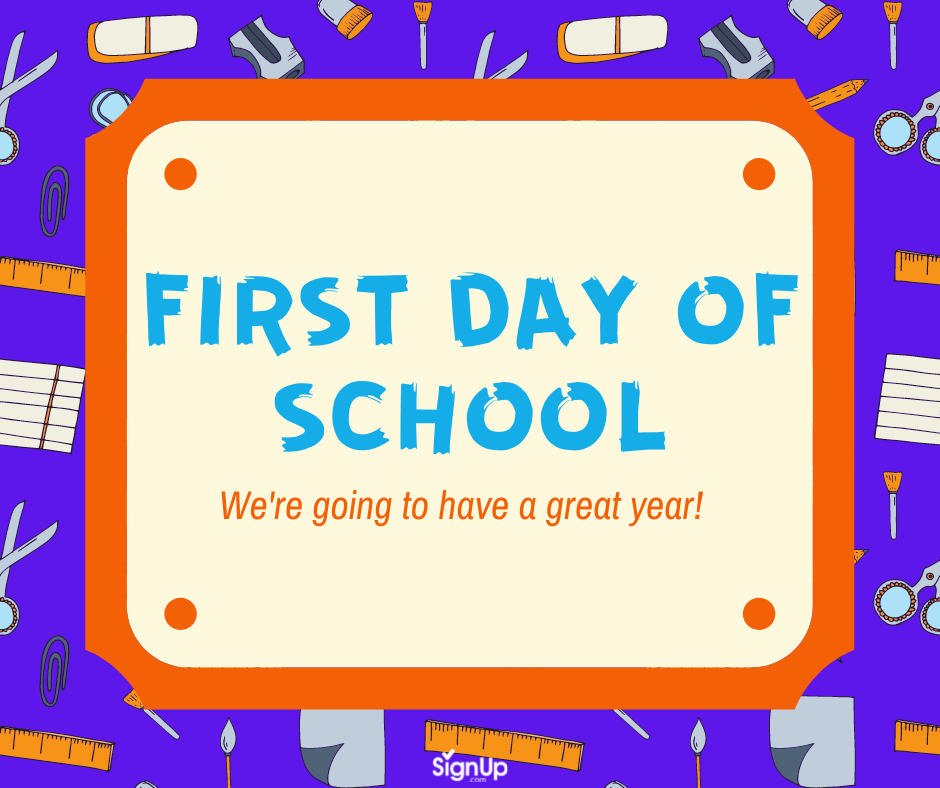First Day of School, great year social graphic