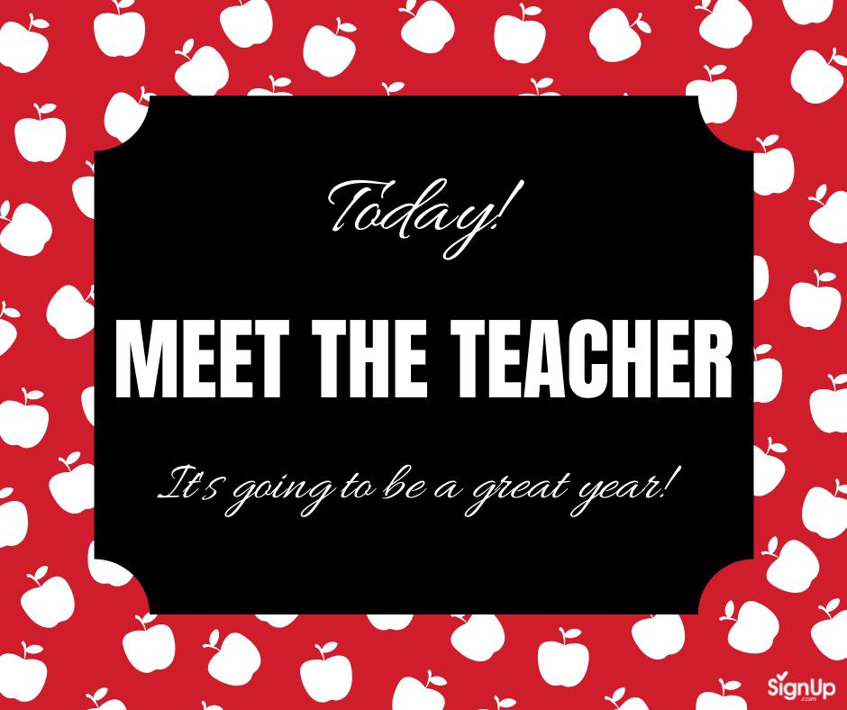 Meet the Teacher today! social graphic