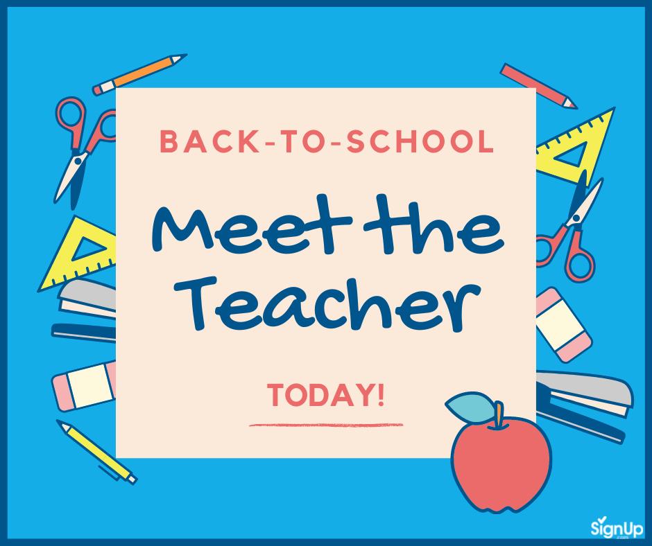 Back to School Meet the Teacher social graphic