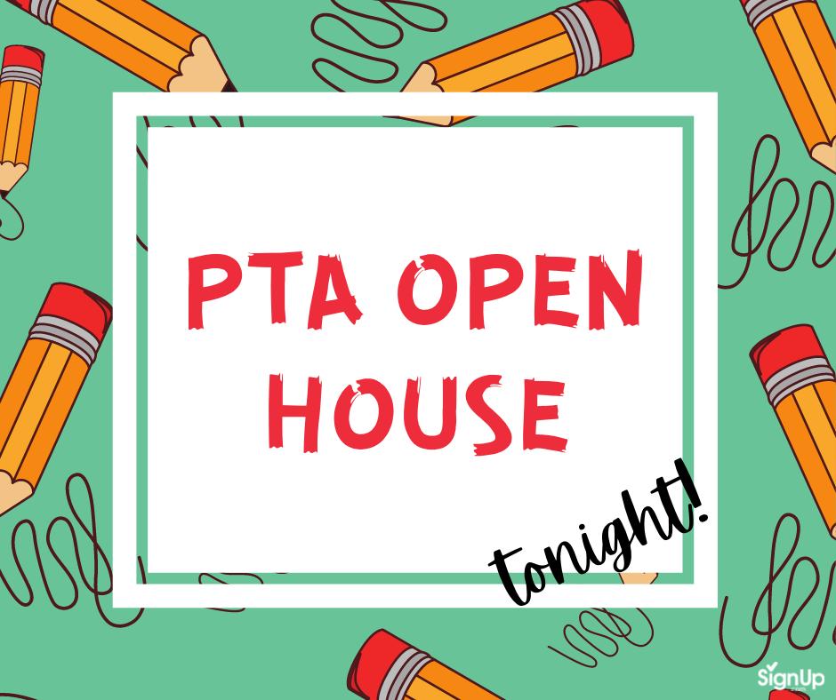 PTA Open House social graphic