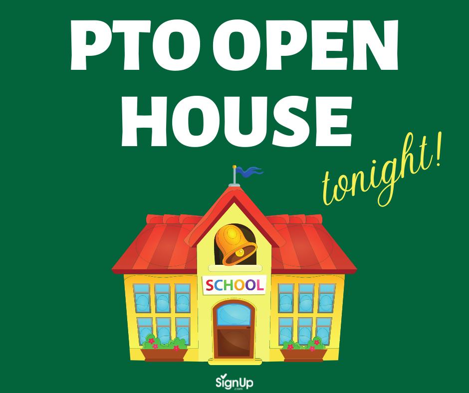 PTO Open House social graphic