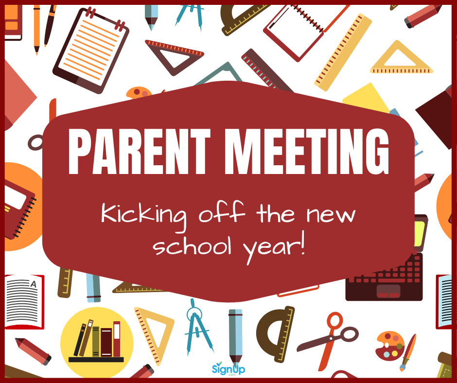Parent Meeting social graphic for B2S