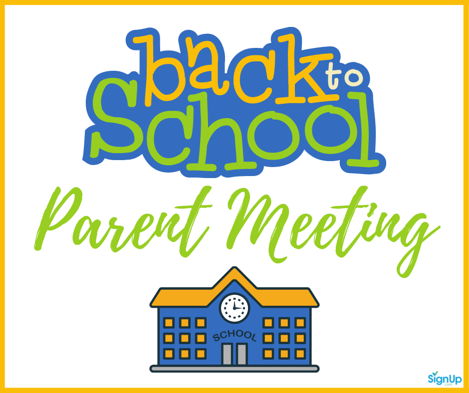 Back to School parent Meeting social graphic