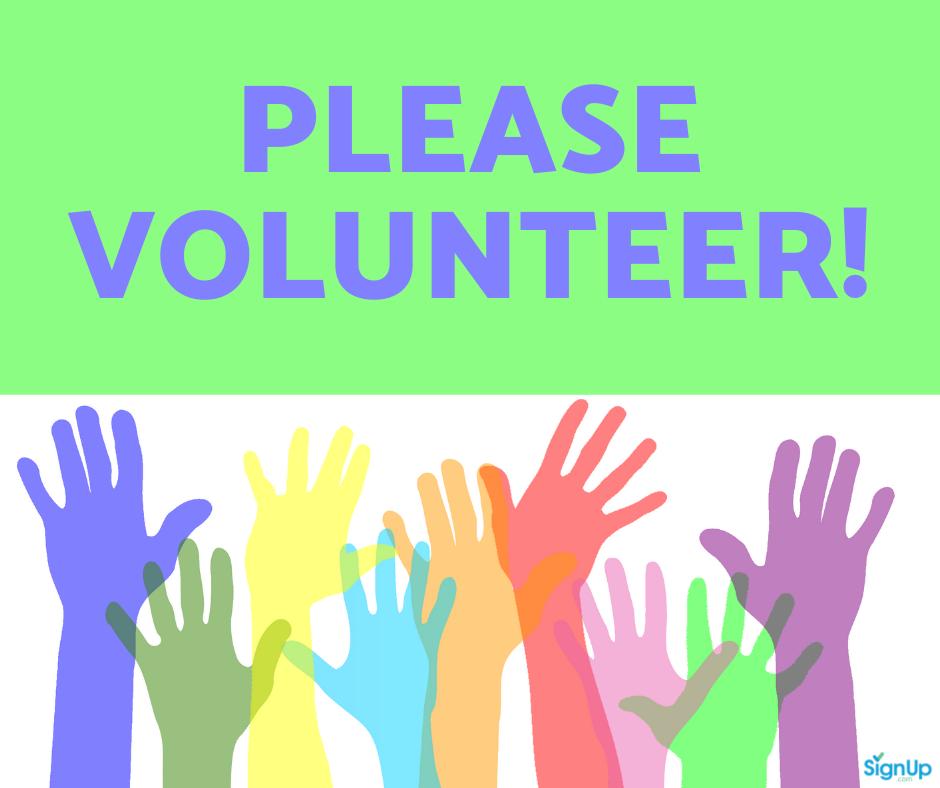 Please Volunteer social graphic