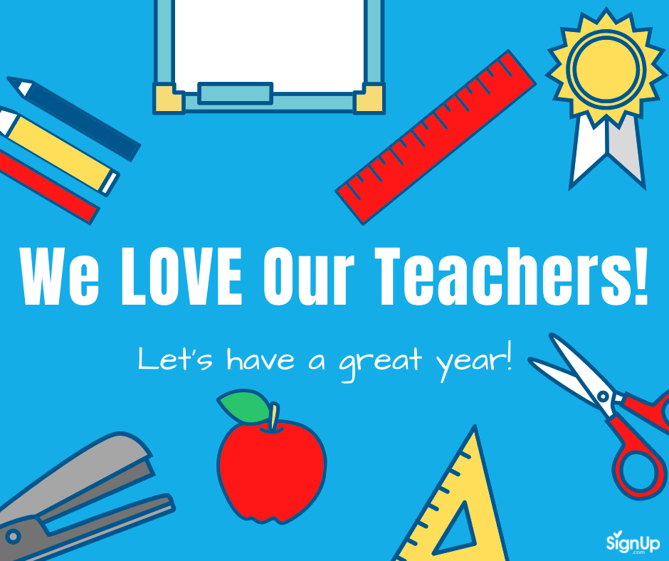We Love Our Teachers social graphic 2