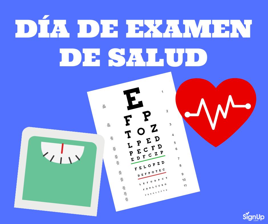 Día de Examen de Salud