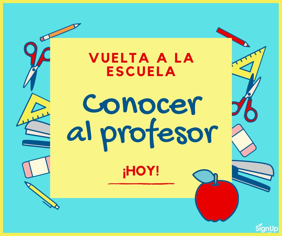 Vuelta a la Escuela - Conocer al profesor