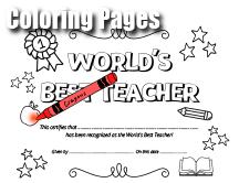Printable Teacher Appreciation Coloring Pages
