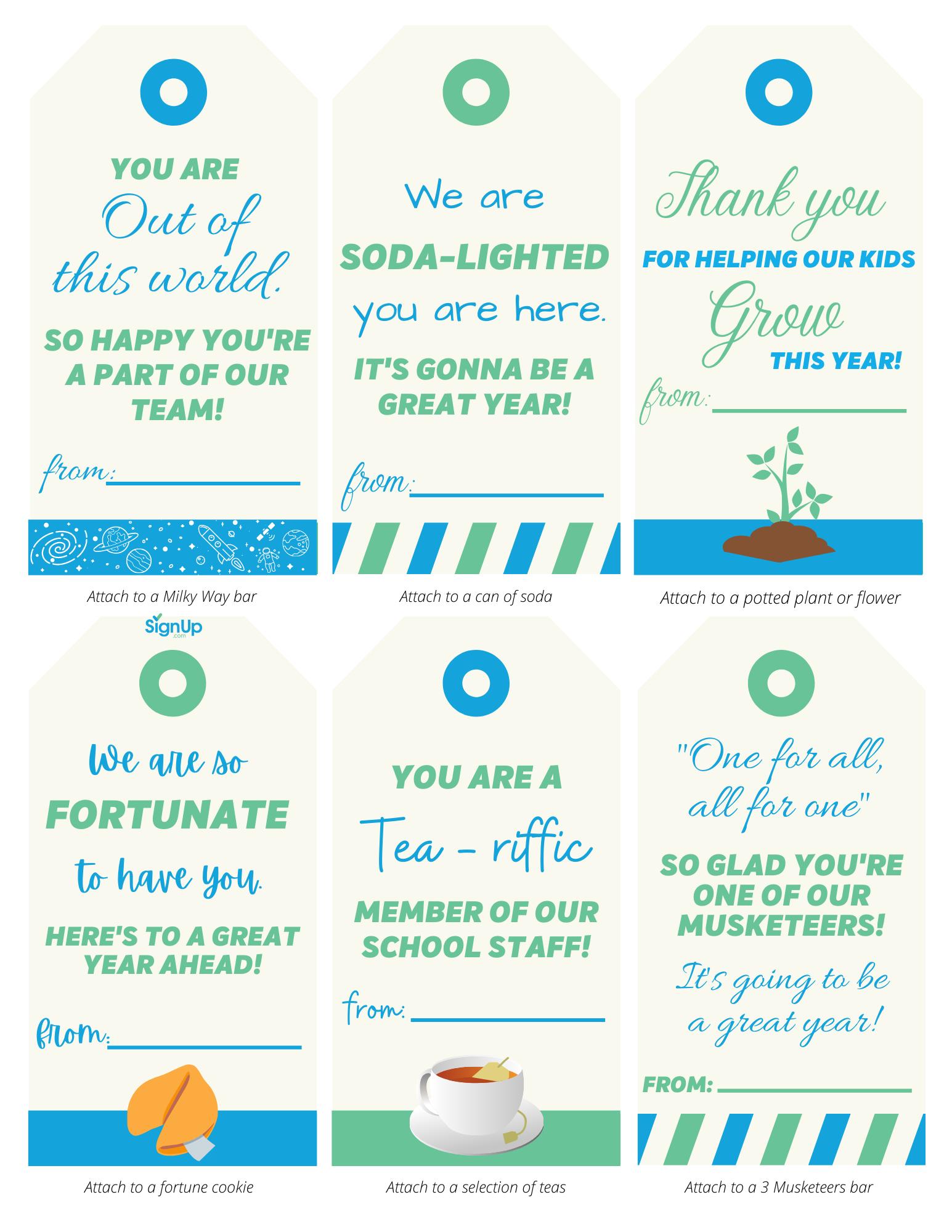 school staff appreciation notes