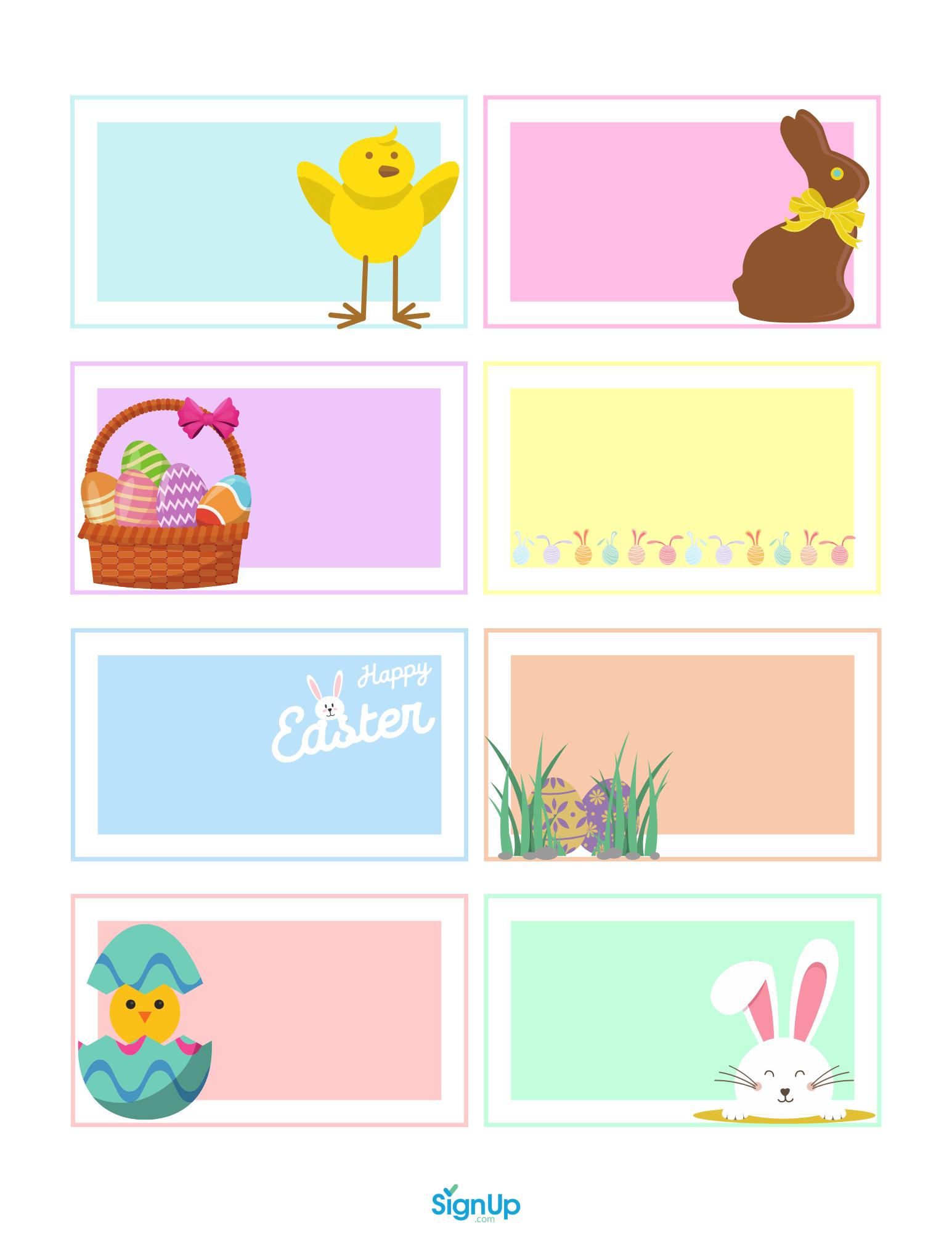 Easter scavenger hunt blank cards