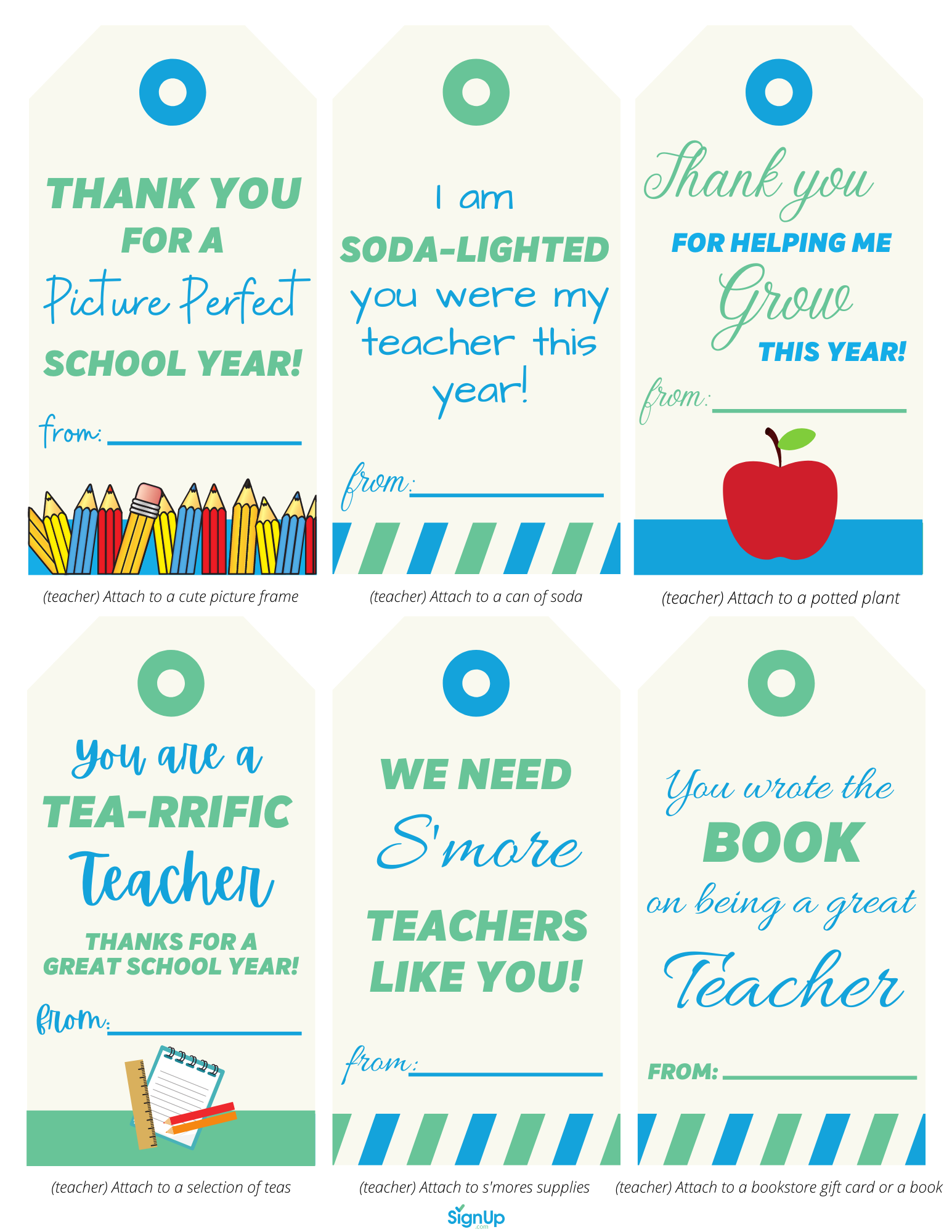 End-of-school thank you notes for teachers