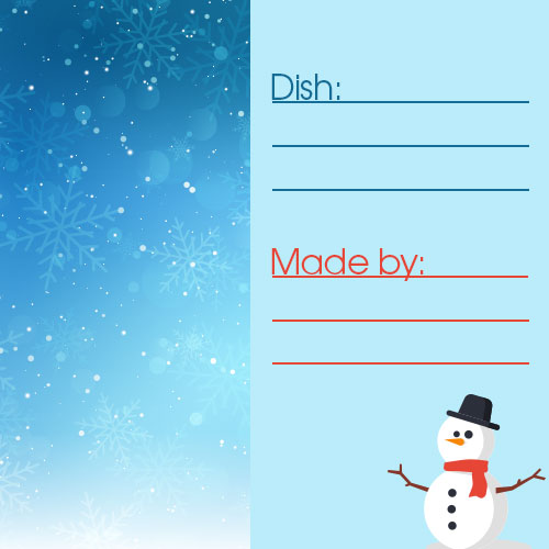 snowman meal card