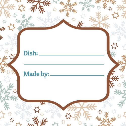 snowflakes meal card