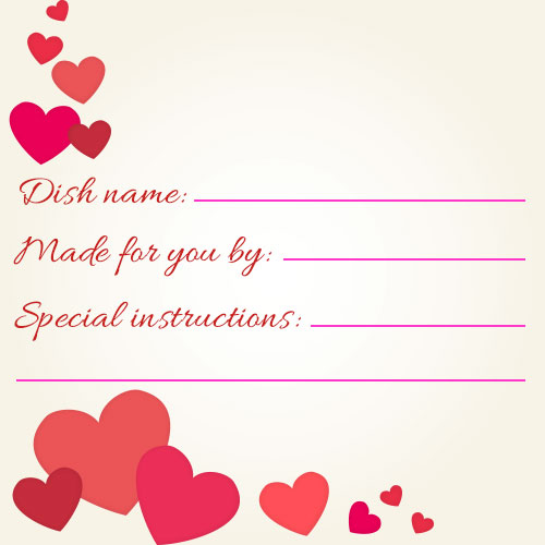 Valentine S Day Potluck Printables And Meal Cards Signup Com