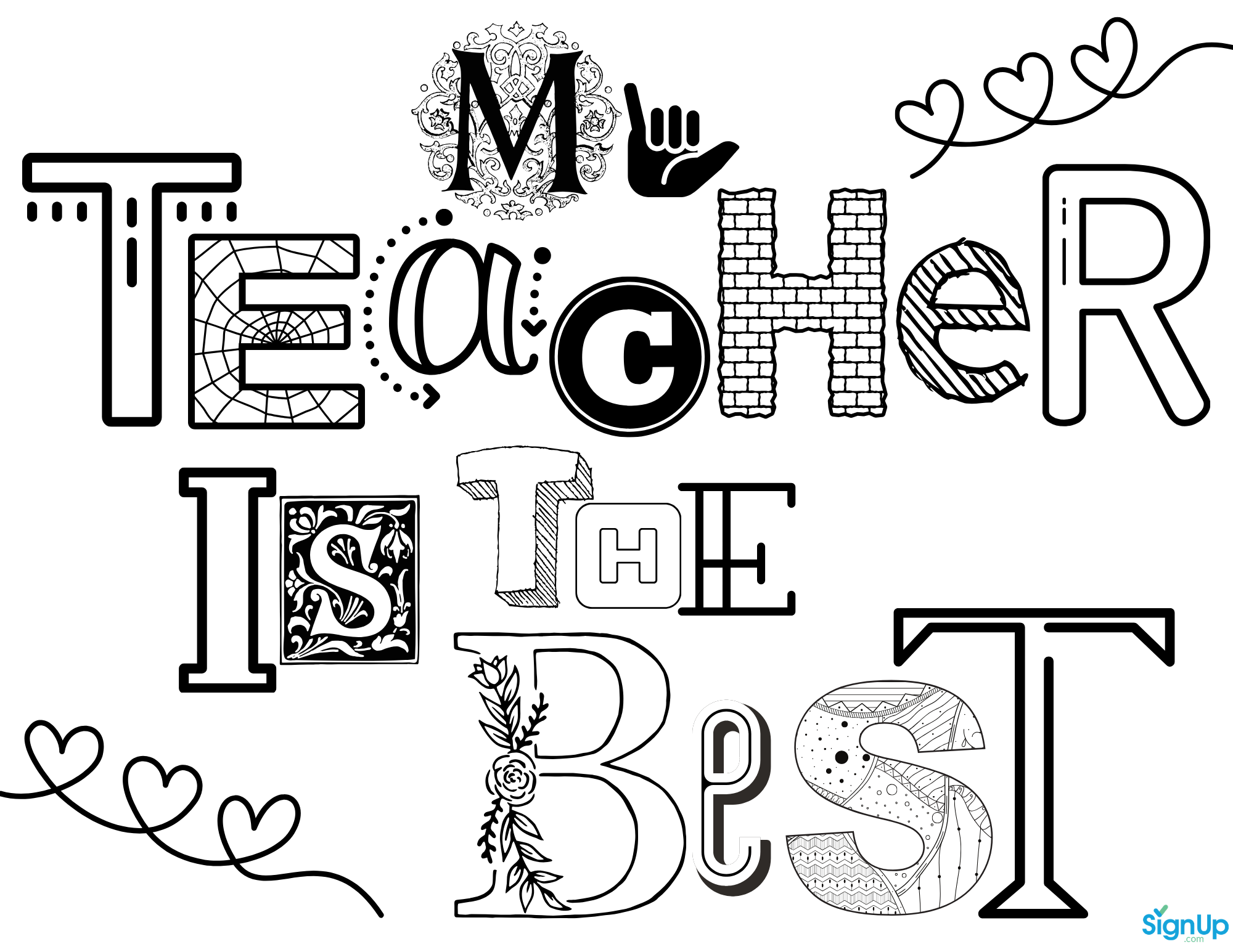 Free Printable Coloring Pages For Teacher Appreciation Signup Com