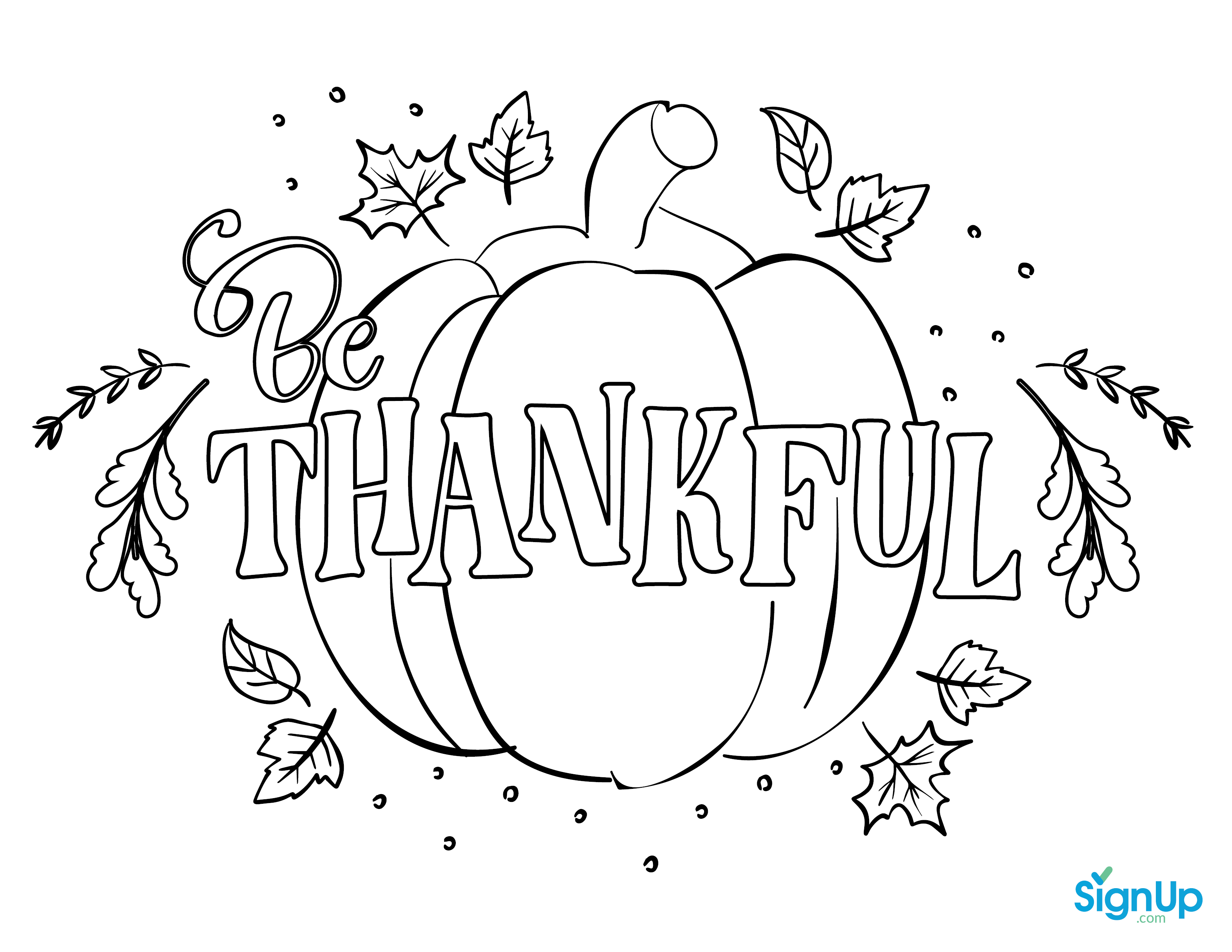Thankful Coloring Place Mat