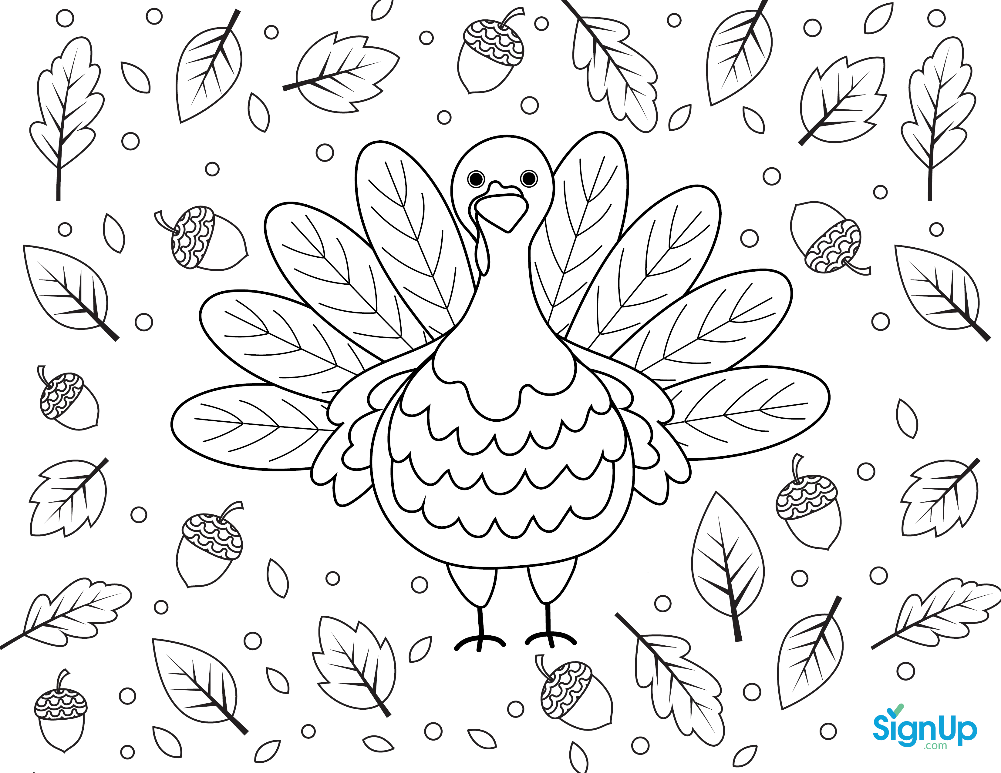 Turkey Coloring Place Mat